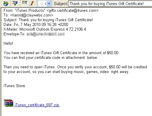 trojan masquerades as itunes gift or r 233 sum 233 webroot