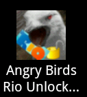 "Android Trojan ""Plankton"" Angry Birds Rio Unlocker program icon"