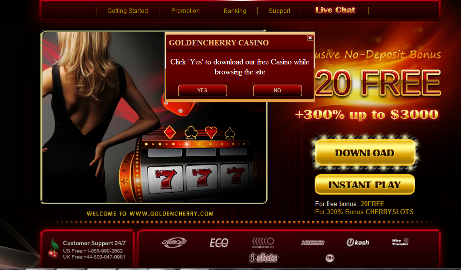 Pop up casino