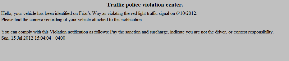 Traffic_Police_Violation_Spam_Malware