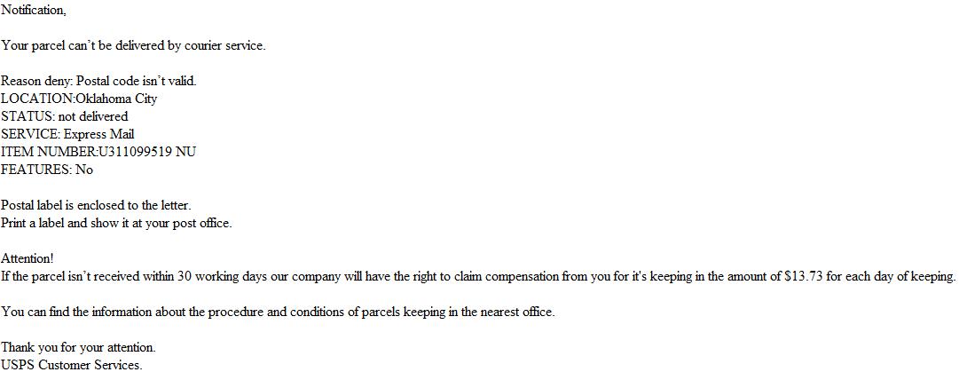 USPS_spam_malware