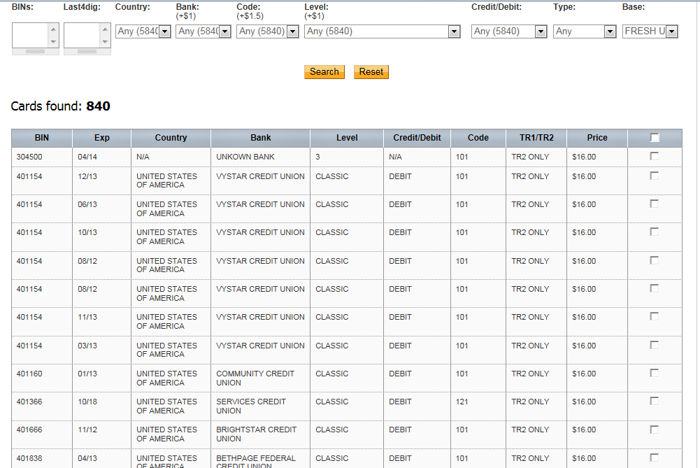 New E-shop selling stolen credit cards data spotted in the