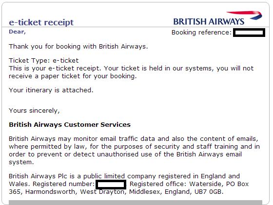 how to get flight ticket using receipt