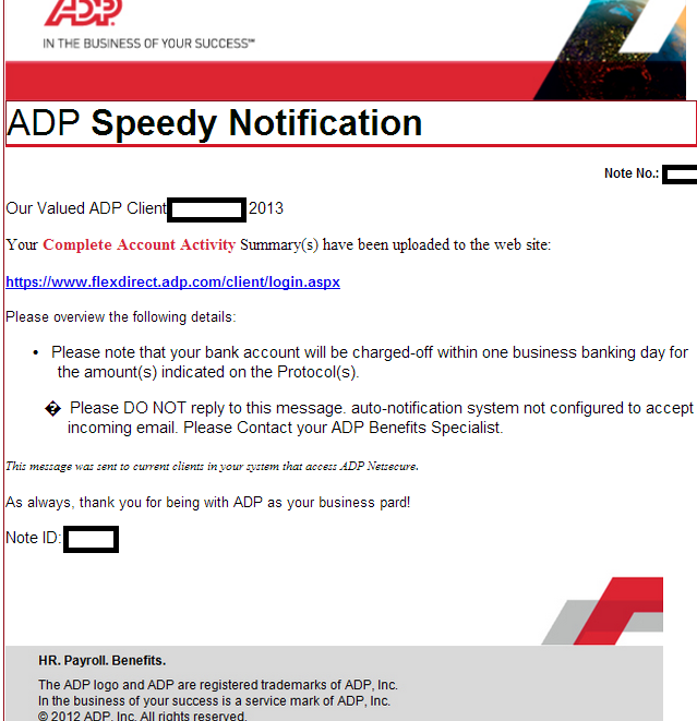 Fake 'ADP Speedy Notifications' lead to client-side exploits