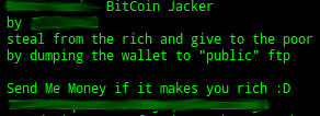 BitCoinJacker-StealMeMoney
