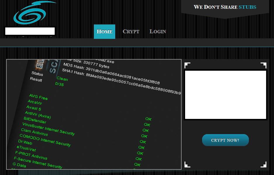 DIY_Web_Malware_Malicious_Software_Executable_Crypting