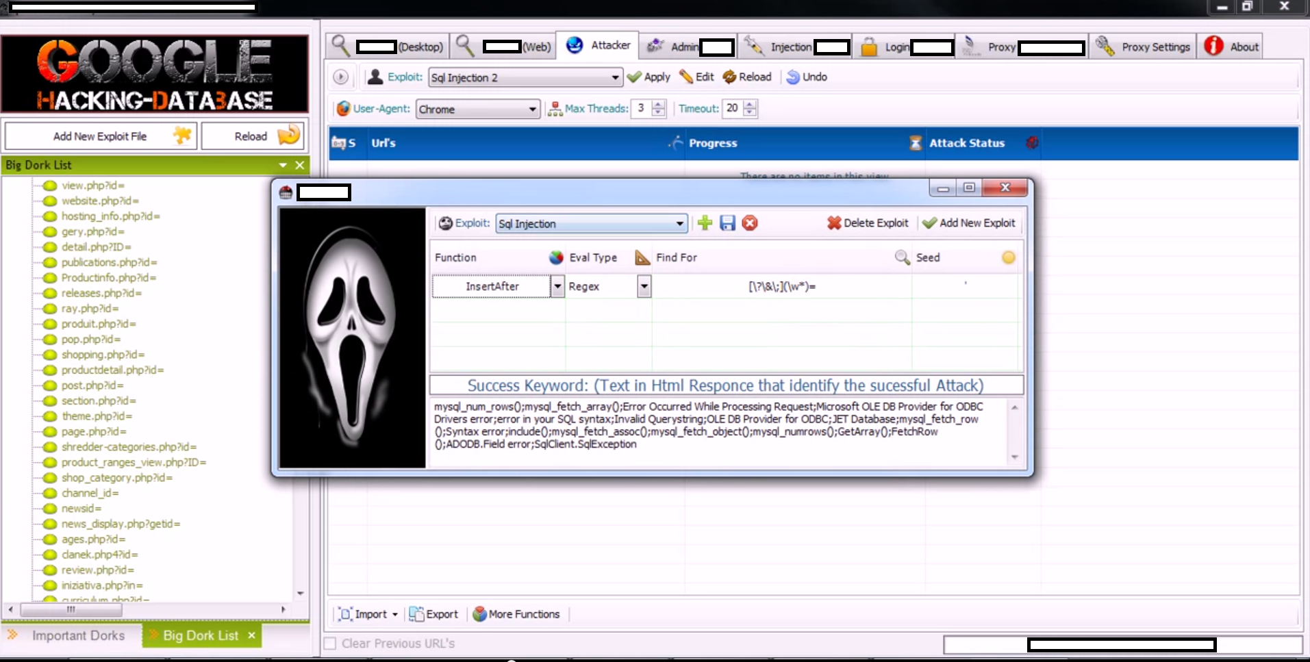 New Version Of DIY Google Dorks Mass Website Hacking Tool