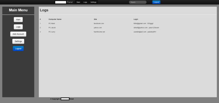 HTTP_DIY_Keylogger_Admin_Panel