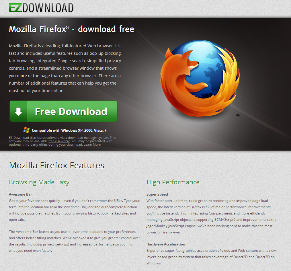 Rogue 'Free Mozilla Firefox Download' ads lead to