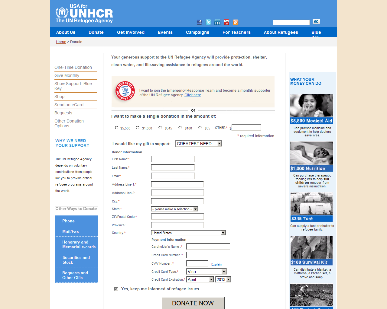 Syria_Fake_Bogus_Fraudulent_Donation_Site_Campaign_Agency_UNHCR_Scam_Fraud_Credit_Card